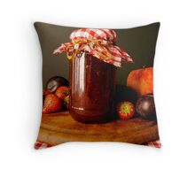 A Jar of Jam. Throw Pillow