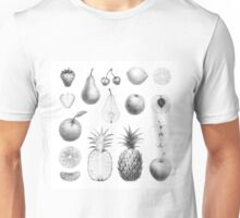 fresh fruits in black and white Unisex T-Shirt
