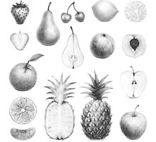 fresh fruits in black and white by nuanz