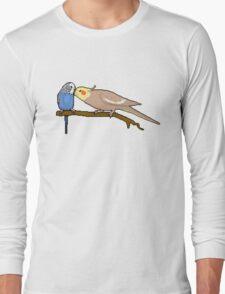 Pixel / 8-bit Parrot: Budgie and Cockatiel Long Sleeve T-Shirt