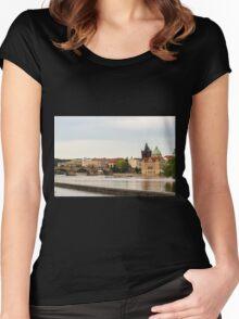 Vltava River - Prague, Czech Republic Women's Fitted Scoop T-Shirt
