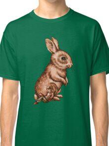 Cartoon Child with Bunny Rabbit Drawing Classic T-Shirt