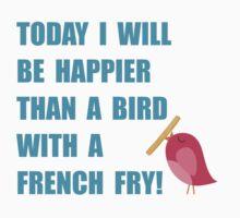 Bird With French Fry by AmazingMart