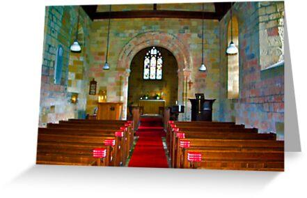 Interior of St John Church by Trevor Kersley