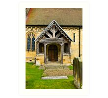 The Entrance Door St John's Church. Art Print