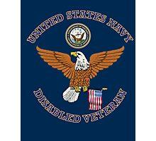 US NAVY DISABLED VETERAN EAGLE SHIELD Photographic Print