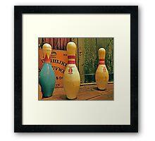 Ouija Bowling Framed Print