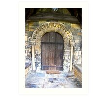 Wooden Church Door Art Print