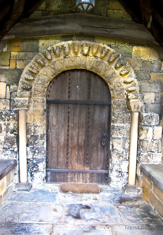 Wooden Church Door by Trevor Kersley