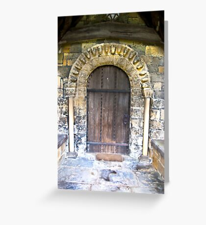 Wooden Church Door Greeting Card