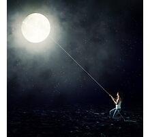 Moon Fishing Photographic Print