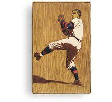 Vintage Baseball illustration Canvas Print