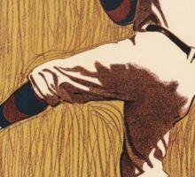 Vintage Baseball illustration Sticker