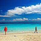 Generation gap in Vrika beach by Hercules Milas