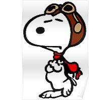 Aviator Snoopy Poster