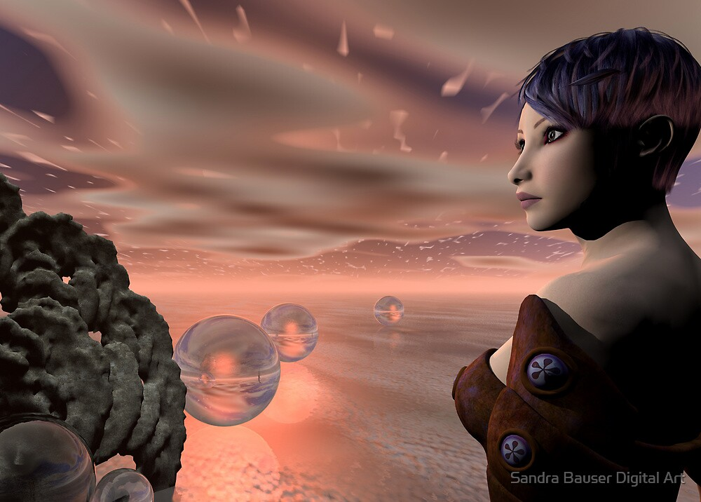 A Brave New World by Sandra Bauser Digital Art
