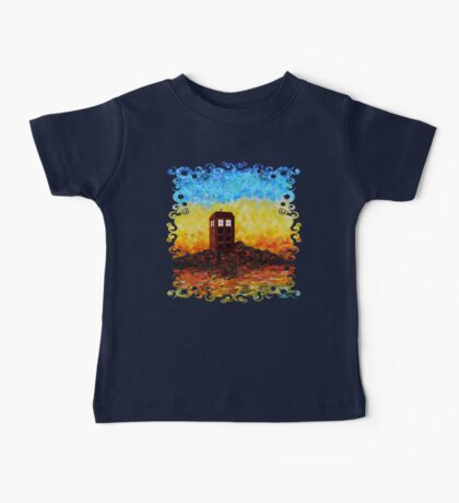Time travel Phone booth in the Twilight zone art painting Baby Tee