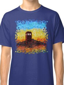 Time travel Phone booth in the Twilight zone art painting Classic T-Shirt