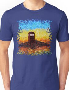 Time travel Phone booth in the Twilight zone art painting Unisex T-Shirt