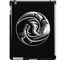 Dragon, Yin Yang, Doctormo, Dring, Drang, Eastern, EMBOSS, WHITE iPad Case/Skin