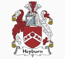 Coat of arms (family crest) for last-name or surname Hepburn . Heraldry banner for your name. Kids Clothes