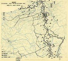World War II Twelfth Army Group Situation Map October 24 1944 by allhistory