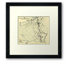 World War II Twelfth Army Group Situation Map October 24 1944 Framed Print