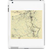 World War II Twelfth Army Group Situation Map October 24 1944 iPad Case/Skin