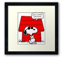 Snoopy Joe Cool Framed Print