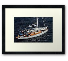 Two Yachts Framed Print
