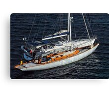 Two Yachts Canvas Print