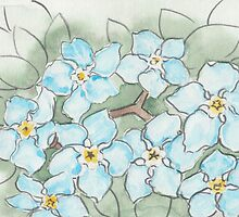 Blue Forget-Me-Not Flowers by Troglodyte