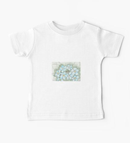 Blue Forget-Me-Not Flowers Baby Tee