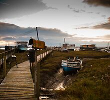 Houseboats in West Mersea, Essex by David Isaacson