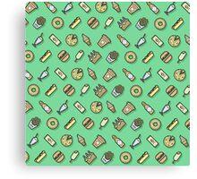 Food pattern vector Canvas Print