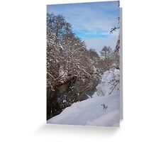River Dearne Snow Greeting Card