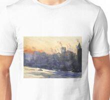Vintage Cityscape Watercolour Painting Unisex T-Shirt