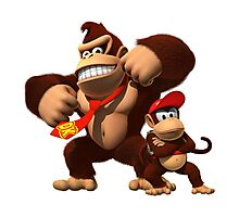 Diddy and donkey kong Photographic Print