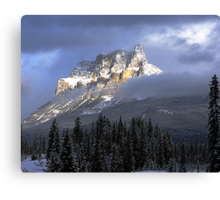 Castle In The Clouds Canvas Print