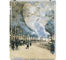 Vintage Watercolour Steam Trains and crowded rail tunnel iPad Case/Skin
