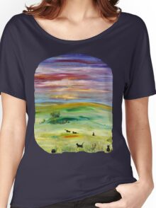 Black cats T option 2 Women's Relaxed Fit T-Shirt