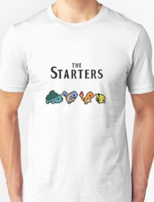 Pokemon starters - Beatles parody  T-Shirt