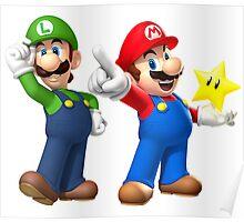Mario and Luigi Poster