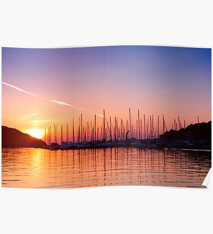 Adriatic sunset. Vrsar, Croatia  Poster