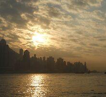 Sundown in Hong Kong by Wayne Holman