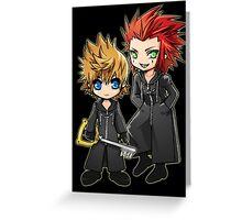 Roxas and Axel - Kingdom Hearts Greeting Card