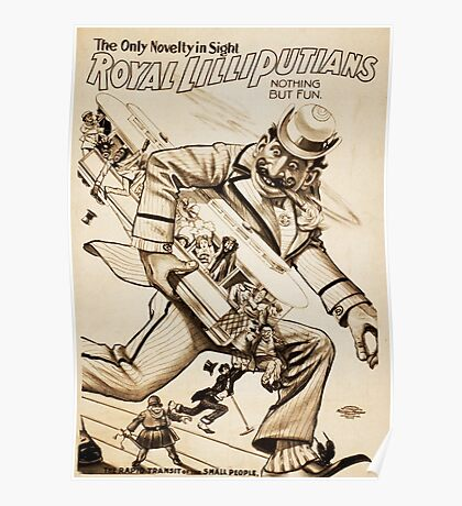 Royal Lilliputians Nothing But Fun vintage show poster Poster