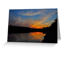 Fiery Night Greeting Card