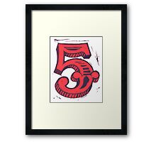Red 5 Framed Print