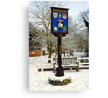 Rolleston on Dove, Village Sign Canvas Print